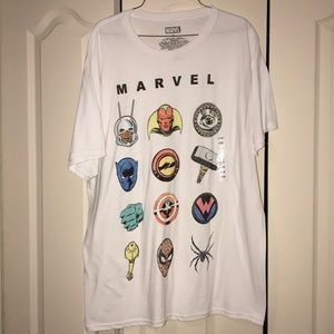 NWT White Marvel Tee Large